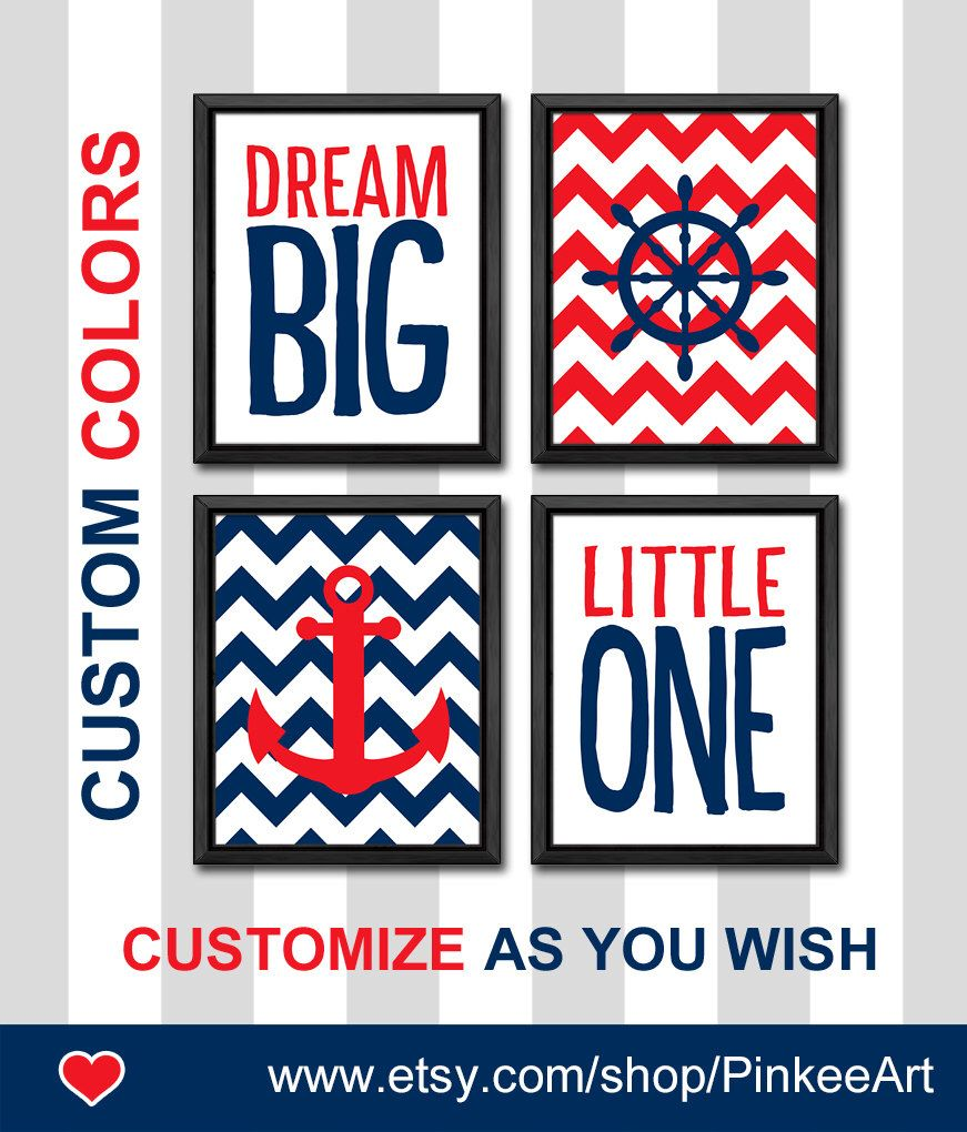 Nautical Nursery Wall Decor dream big nautical decor chevron anchor baby boy nursery navy and