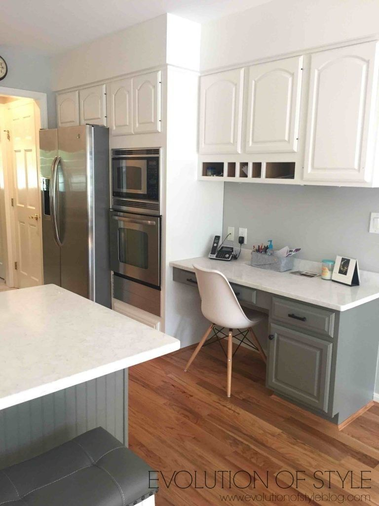 Simply White And Chelsea Gray Kitchen Painted Kitchen Cabinets Colors Painting Kitchen Cabinets White Kitchen Cabinets