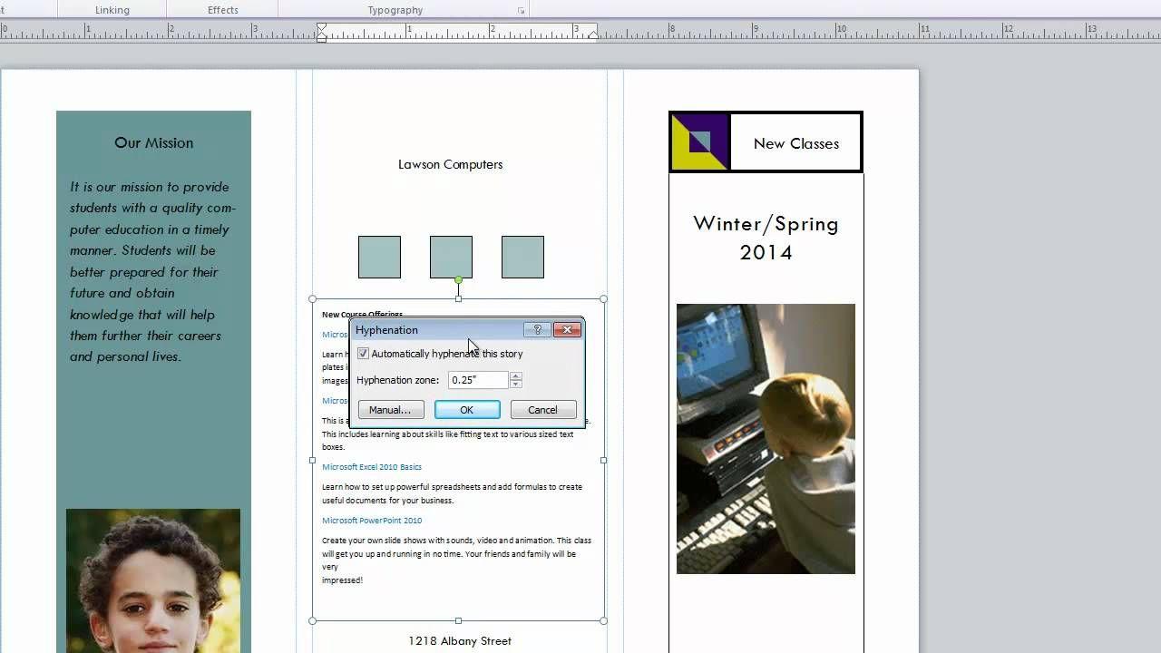 BMA MS Publisher 2010 CH 5 Text Boxes (avec images