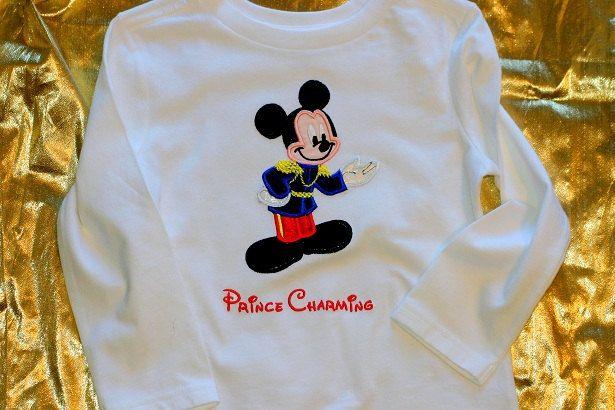 Custom Appliqued Tshirt  Prince Mouse Mickey  by SewglitzyStudio, $25.00