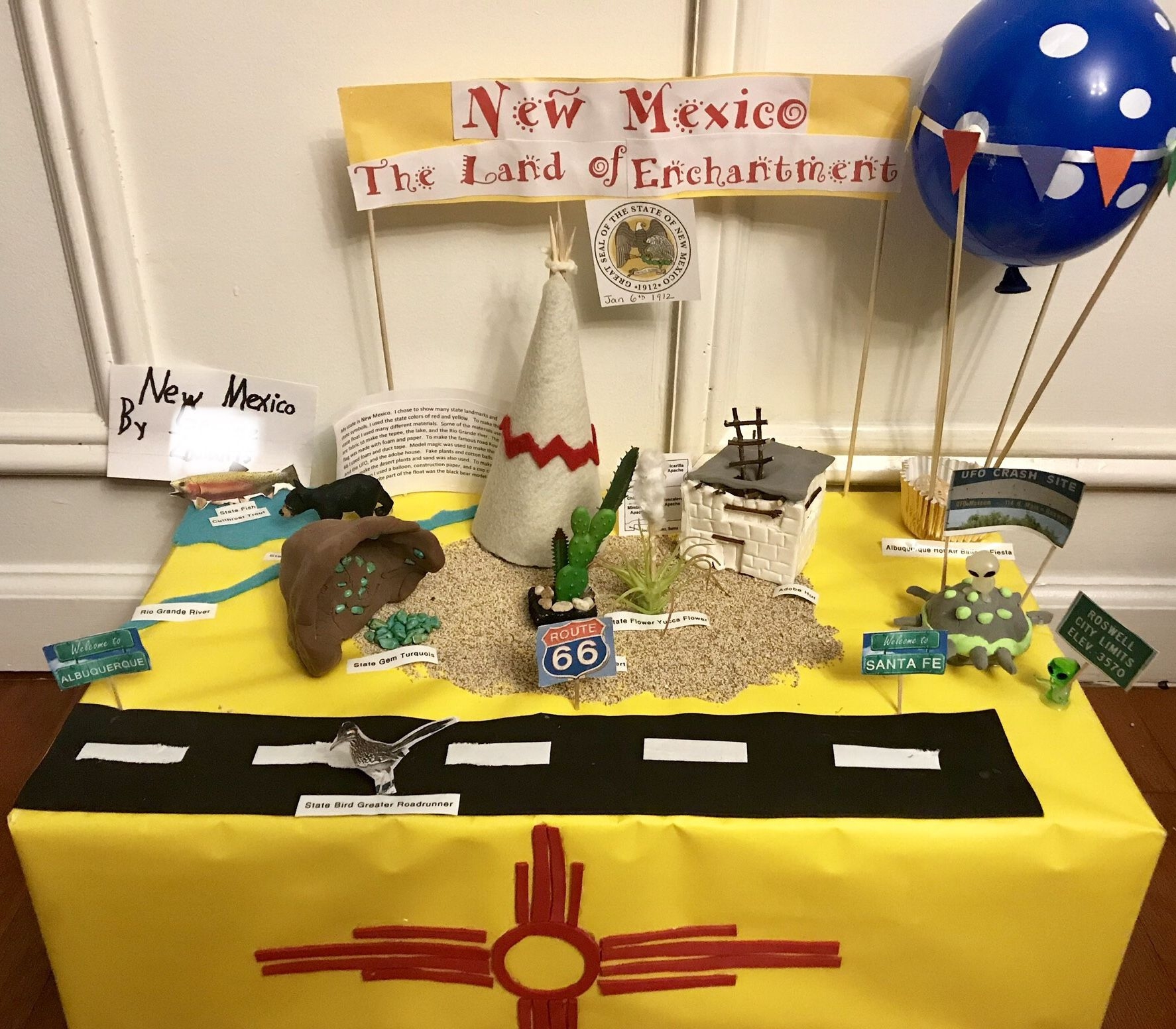New Mexico State Float New Mexico History Projects For Kids New Mexico