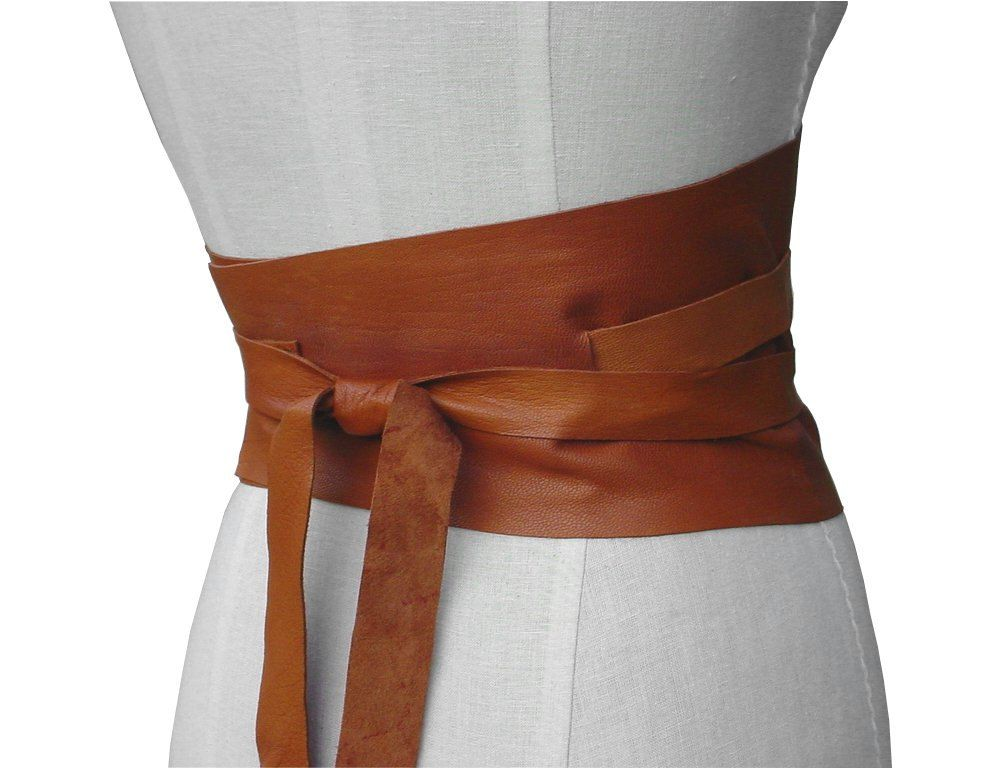 Bohemian Wide Leather Obi Belt, Honey Tan Underbust Corset Belt Rustic  Underbust Corset Belt 26 - 30 waist Small - Medium - Large, custom