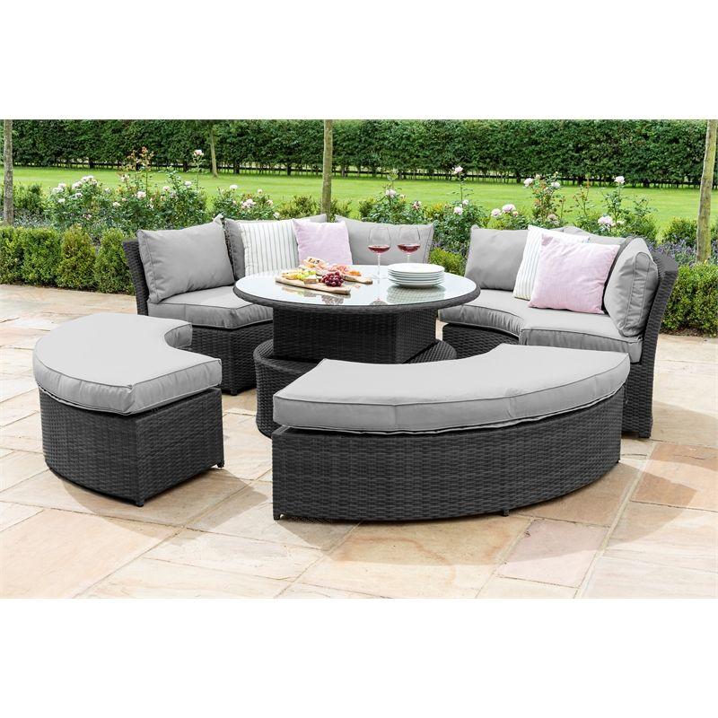 Strange Maze Rattan Chelsea Rising Table Lifestyle Suite Grey Inzonedesignstudio Interior Chair Design Inzonedesignstudiocom