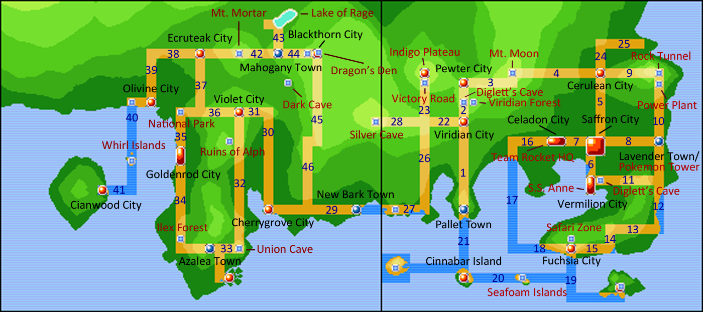 map of kanto and johto for reference in naming parts of