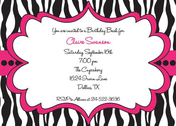 Cool free template free printable zebra print birthday invitations cool free template free printable zebra print birthday invitations filmwisefo