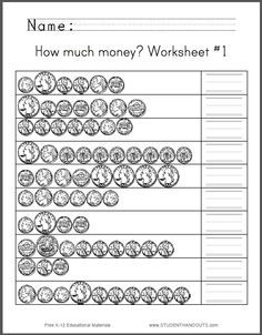 how much money worksheet 1 students are asked to count assortments of quarters nickels. Black Bedroom Furniture Sets. Home Design Ideas