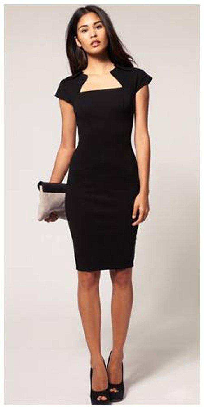8e53cf7b5c Hola Chicas, Aquí les dejo algunas opciones de vestidos a la rodilla que  son excelentes para ir al trabajo o a un cocktail de trabajo.