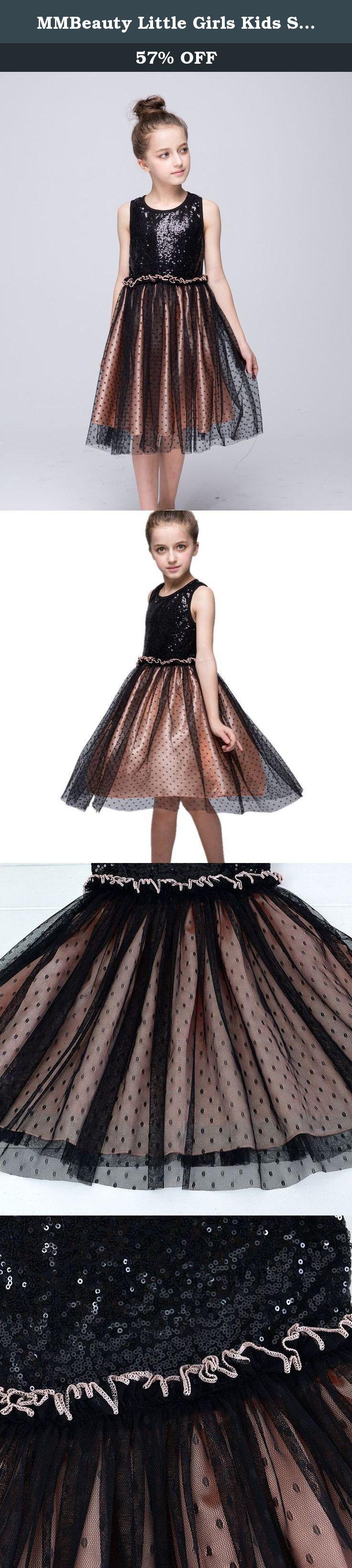 Mmbeauty little girls kids sequin mesh polka dot princess dress