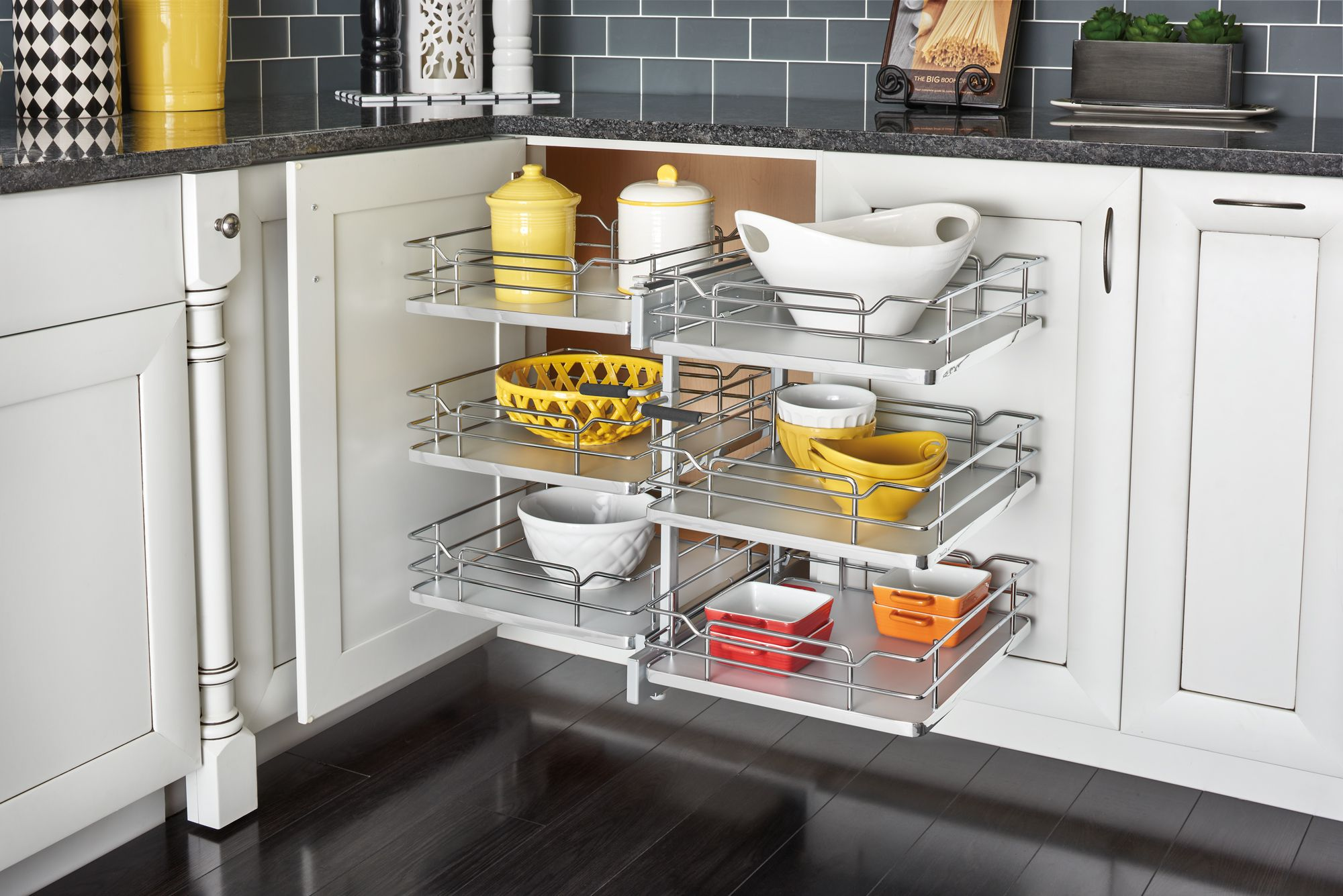 Maximize Your Blind Corner Storage Space And Make Deep Recesses More Accessible Wi Kitchen Cabinet Organization Layout Kitchen Cabinet Remodel Kitchen Cabinets