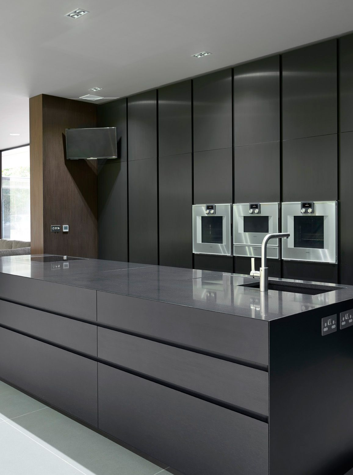 Black Kitchen Designs One Color Fits All Modern Kitchen