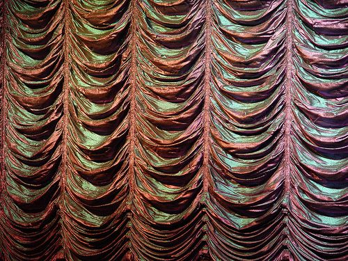 Attractive Pink Iridescent Austrian Style Ruched Theater Curtain