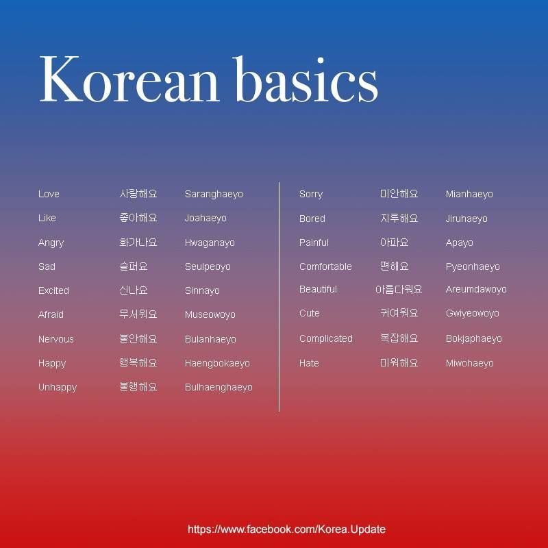 Korean Basics If You Check Out My Other Pin The Hae Is A Sentence Particle Meaning To Do So These Are All To Love And To Like