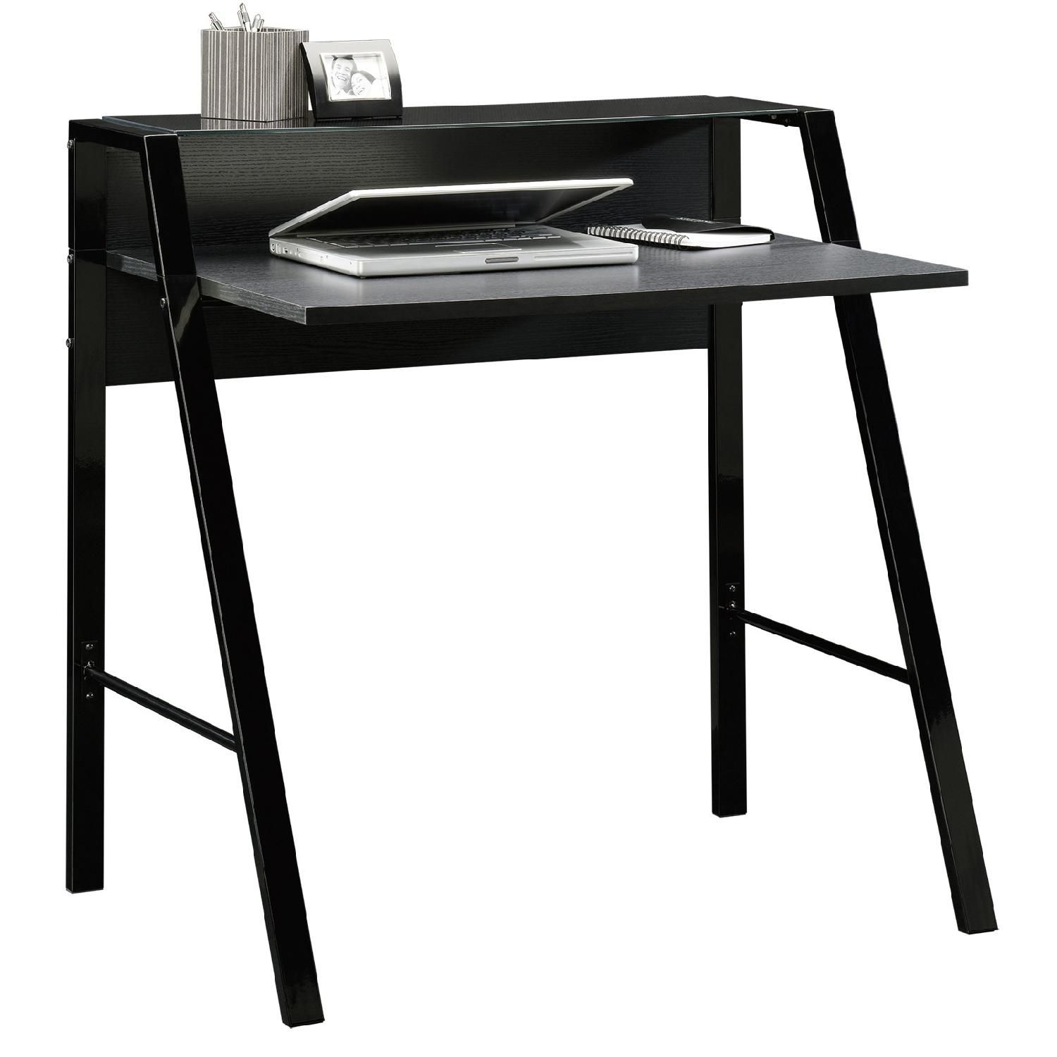Sauder Black Desk Sauder Furniture Glass Desk Office Black Desk