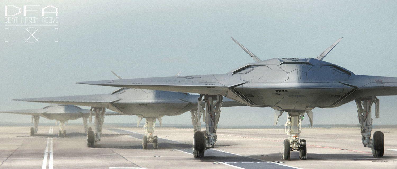 concept ships: DFA drone by Benjamin Last