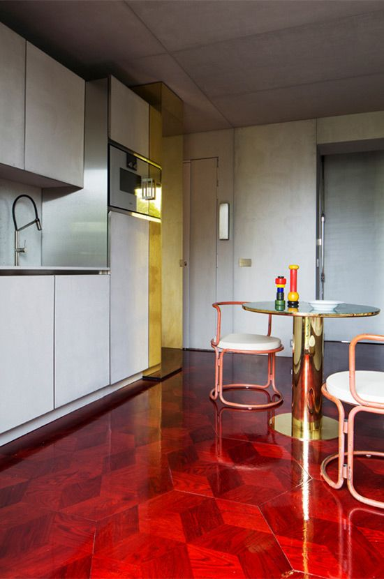 beautiful red floor modern design,interiors,mod