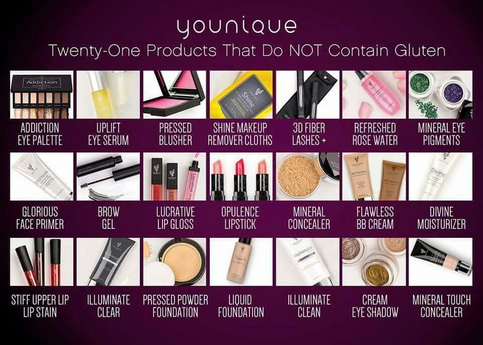 All the New products from Younique Gluten free makeup