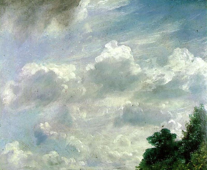 John Constable Study Of Clouds At Hampstead 1821 Avec Images