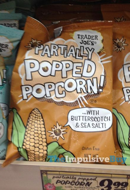 SPOTTED ON SHELVES: Trader Joe's Partially Popped Popcorn with Butterscotch & Sea Salt