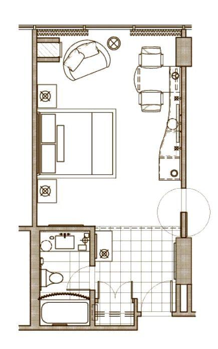 The Mirage Las Vegas Resort Room 394 Sqft King Or Queen Beds Hotel Room Design Plan Hotel Room Design Hotel Room Plan