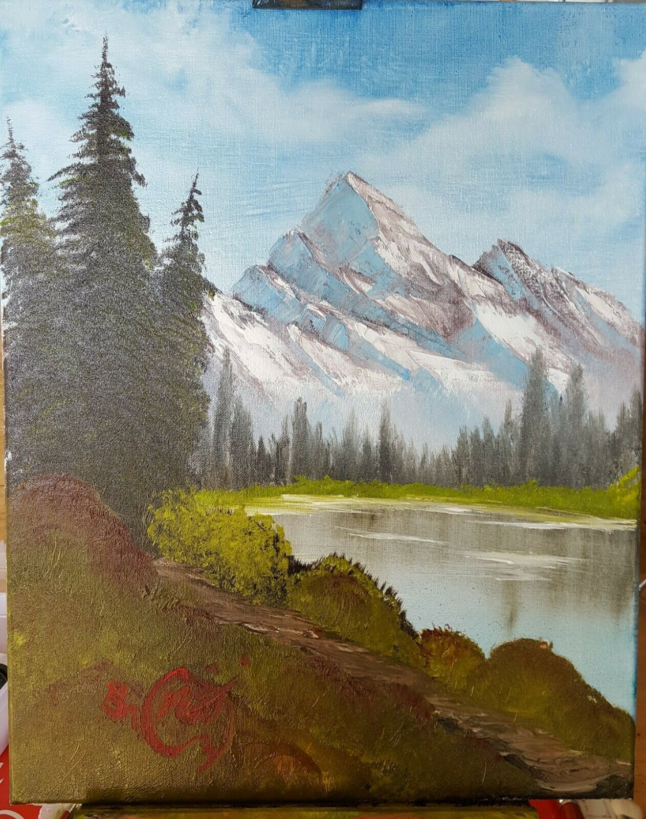 How Much Do Bob Ross Paintings Sell For : paintings, Inspired, Original, Handmade, Canvas, Painting, Painting,, Ross,, Paintings