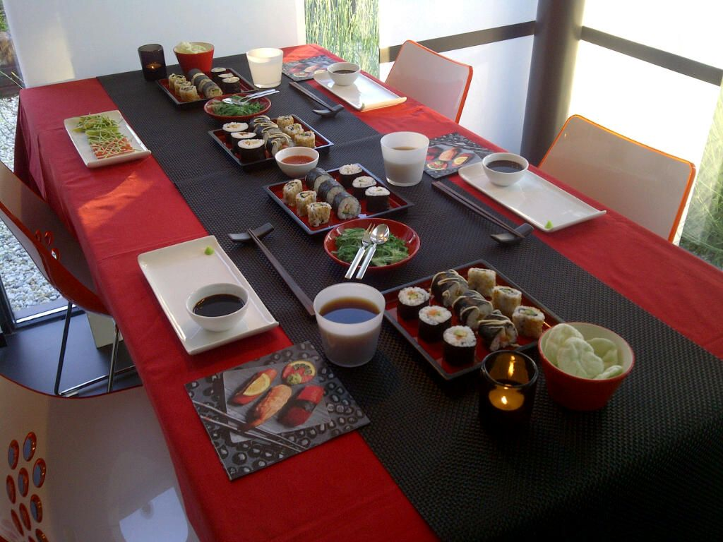 Awesome Japanese Dinner Party Ideas Part - 13: Sushi Dinner Party Idea