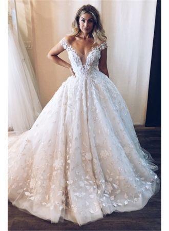Photo of Elegante Brautkleider aus weißer Spitze | Hochzeitskleid Prinzessin Günstige M…