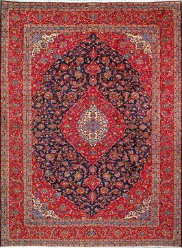 Kashan Persian Rug Handmade