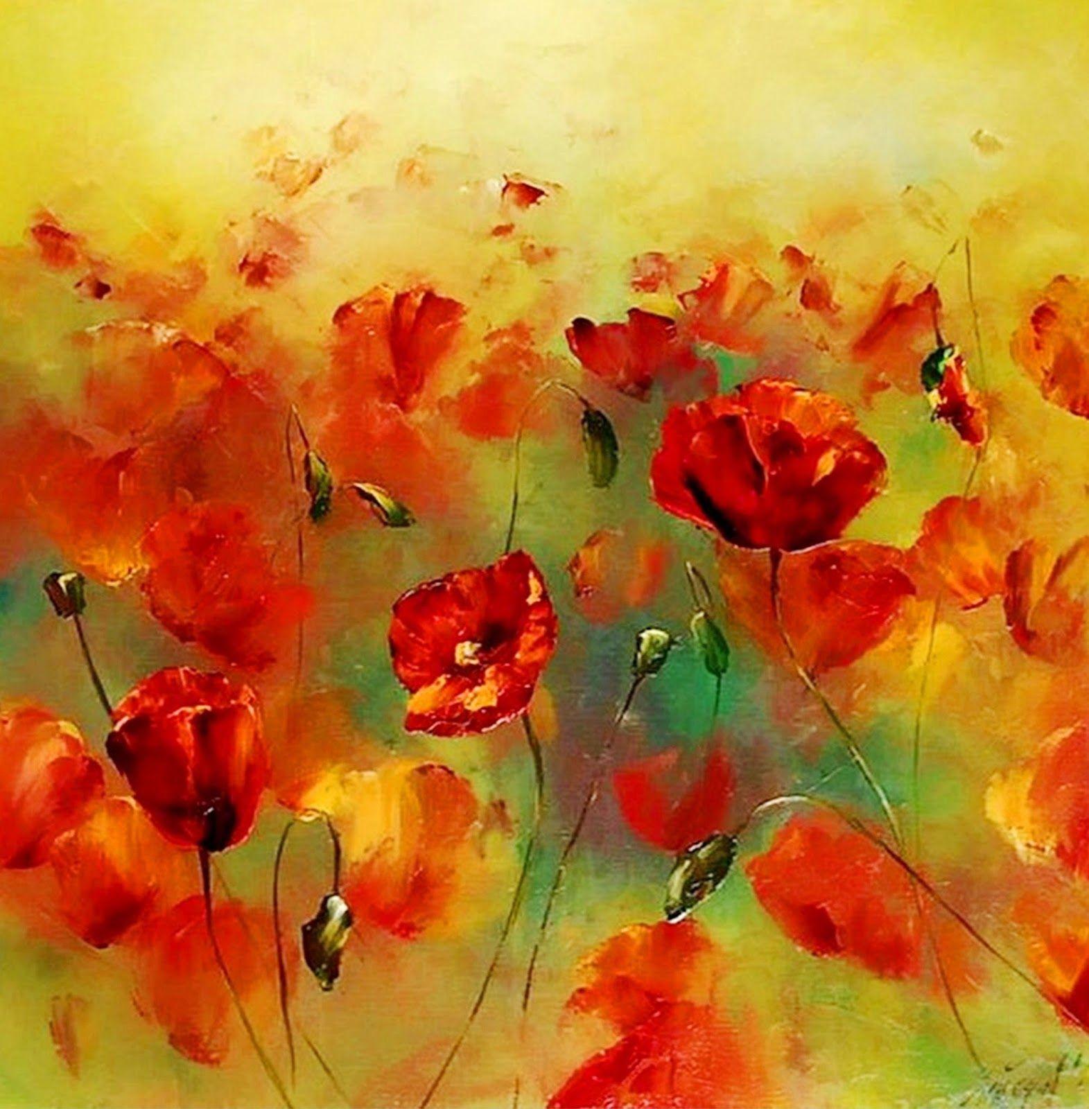 Pinturas en oleo buscar con google flores al oleo y al - Cuadros flores modernas ...