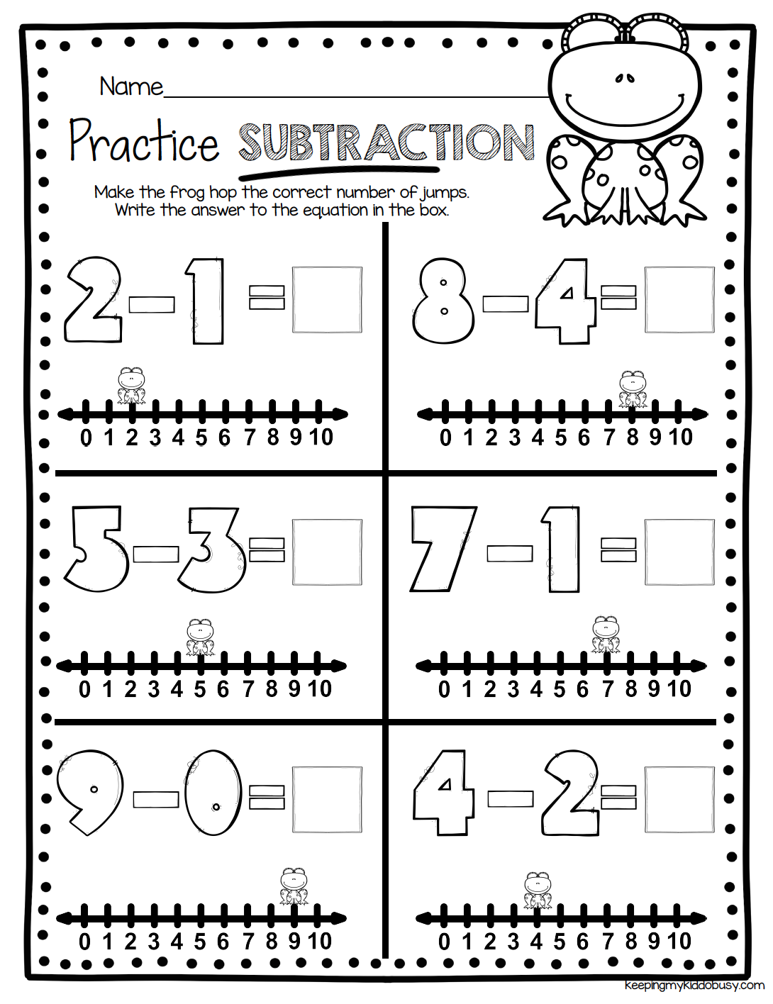 Operations Algebraic Thinking Bundle Freebies Keeping My Kiddo Busy Subtraction Kindergarten Addition And Subtraction Worksheets Math Subtraction