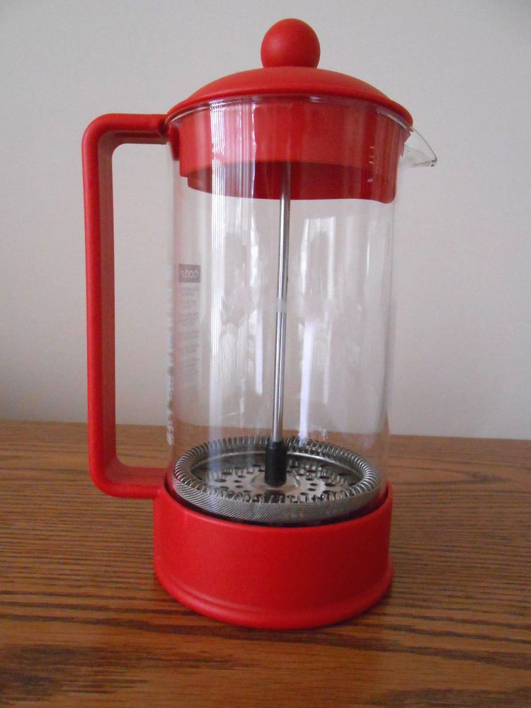Bodum 4 cup french press coffee maker red french press