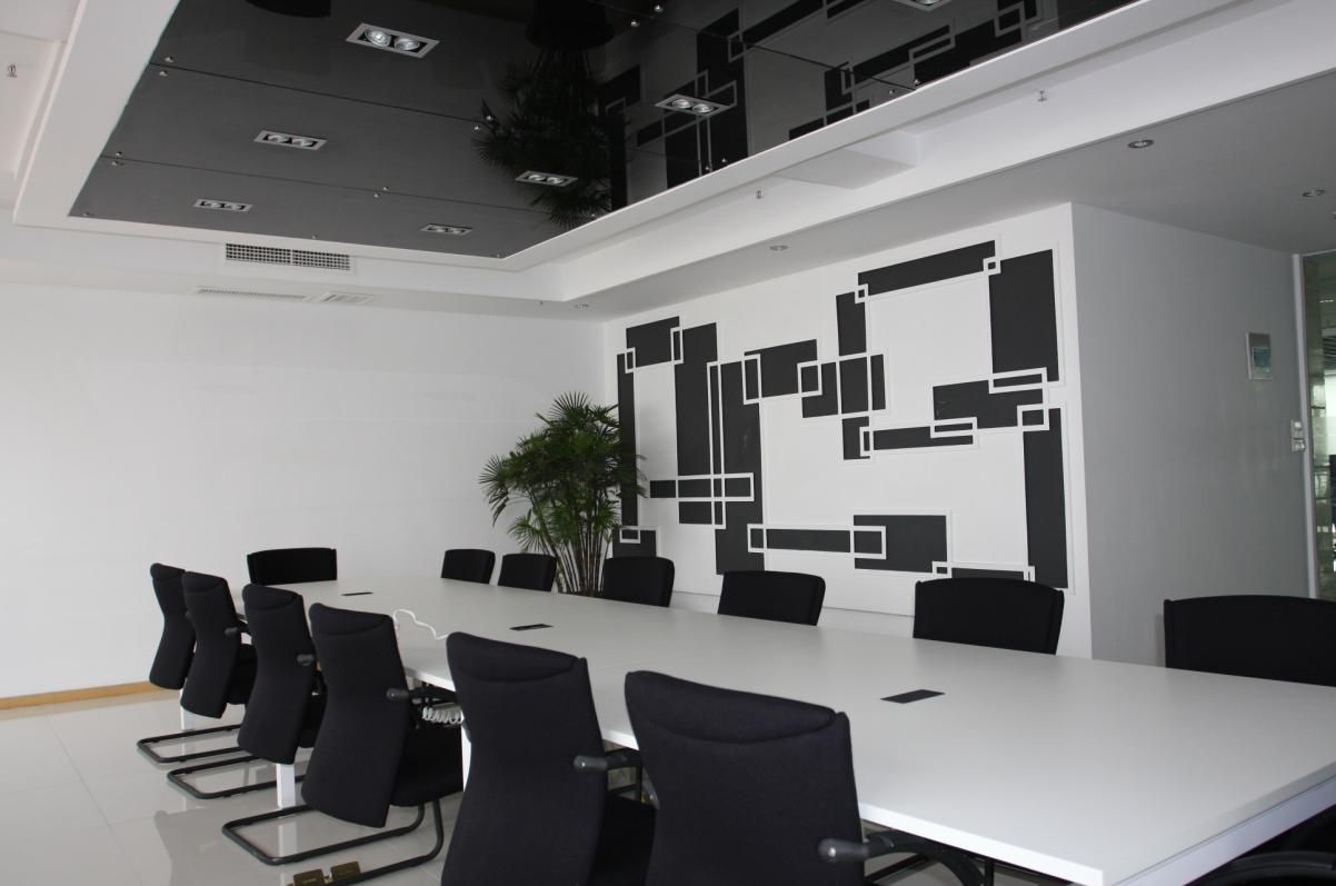 Info you are viewing small black and white meeting room for Office room layout