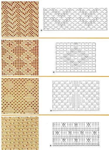 Lace charts.. | Häkeln: Häkelmuster | Pinterest | Crochet, Crochet ...