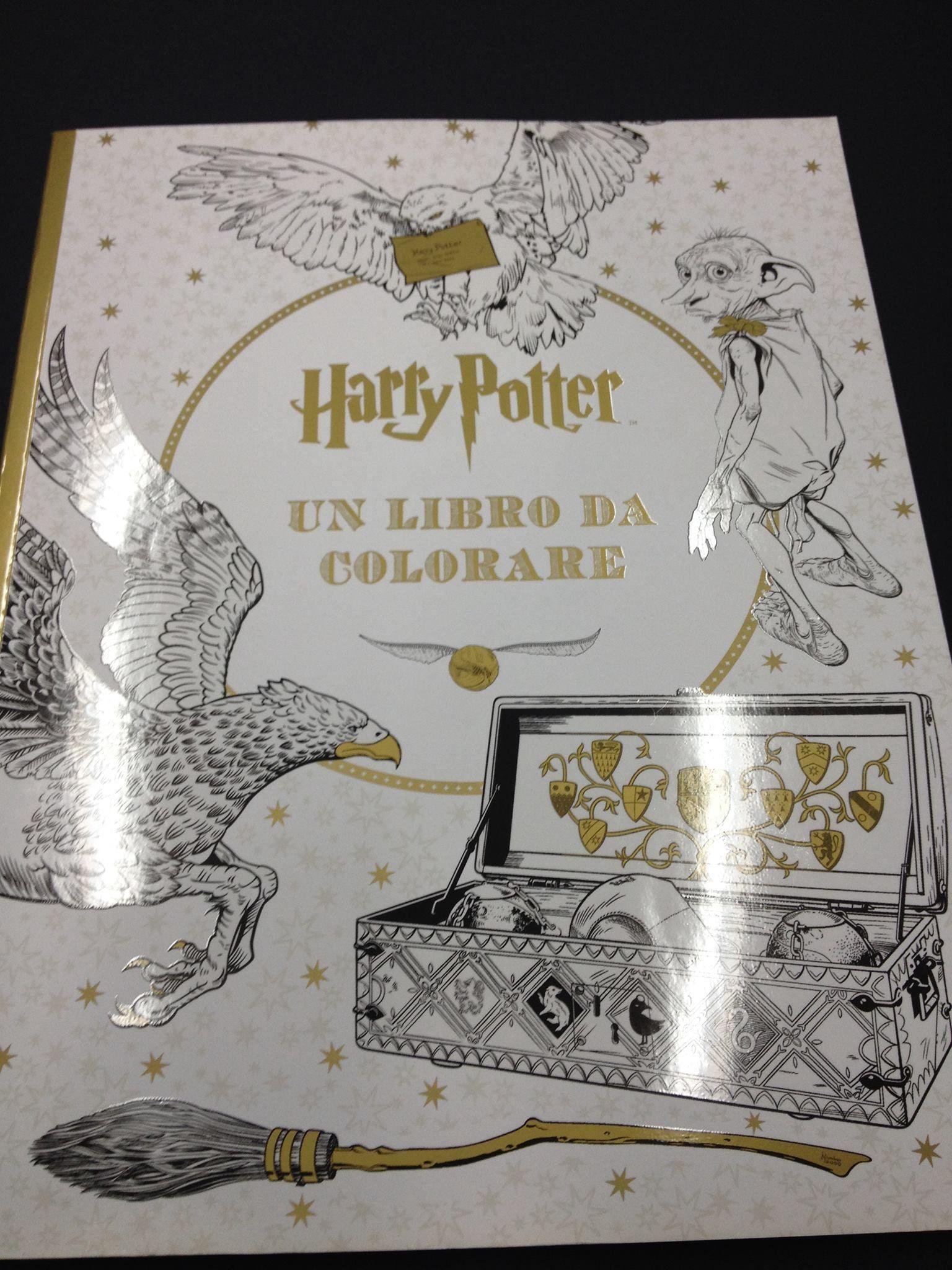 Harry Potter Un Libro Da Colorare Arttherapy Colourtherapy