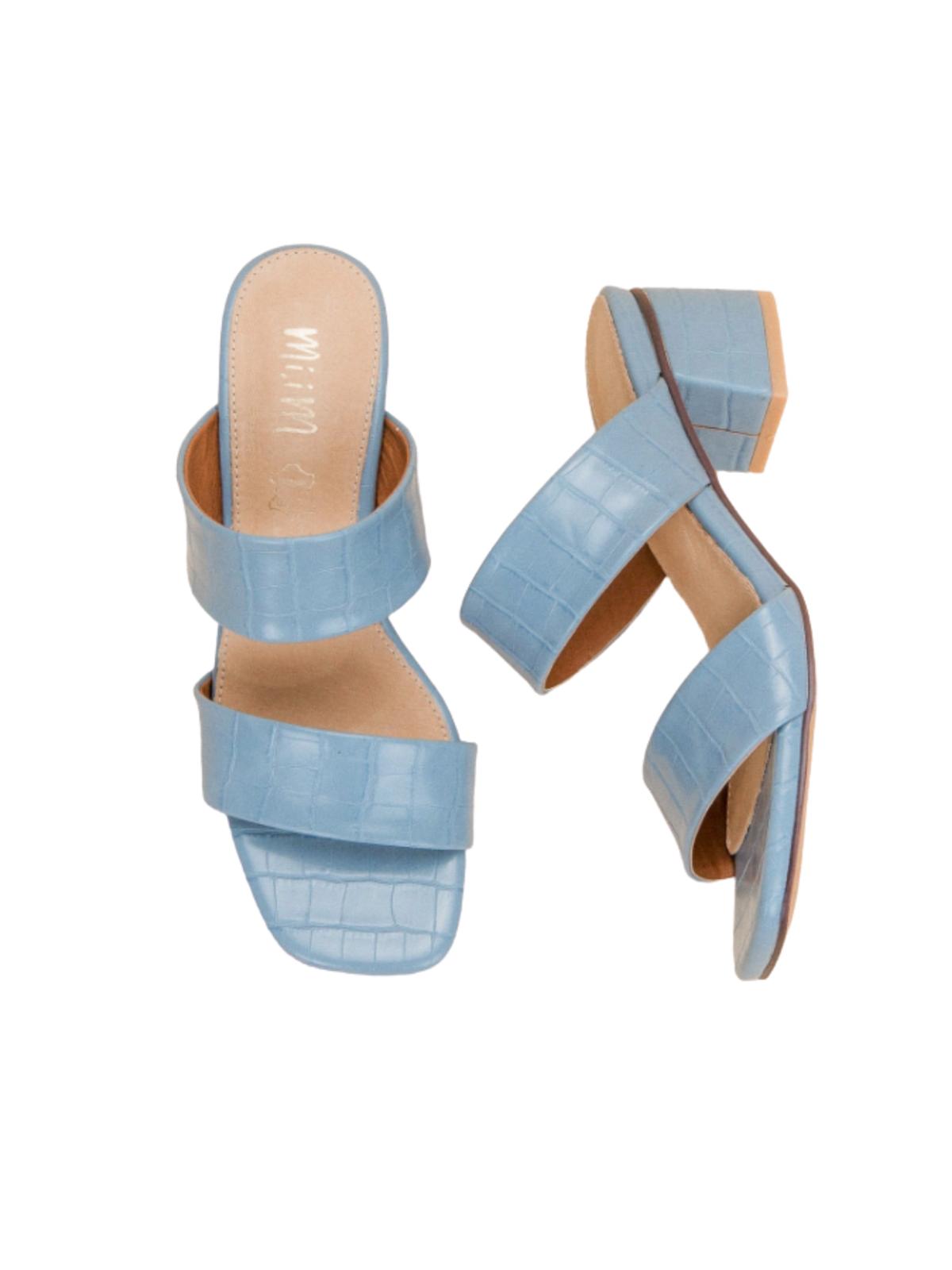 Blue sandals, Powder blue