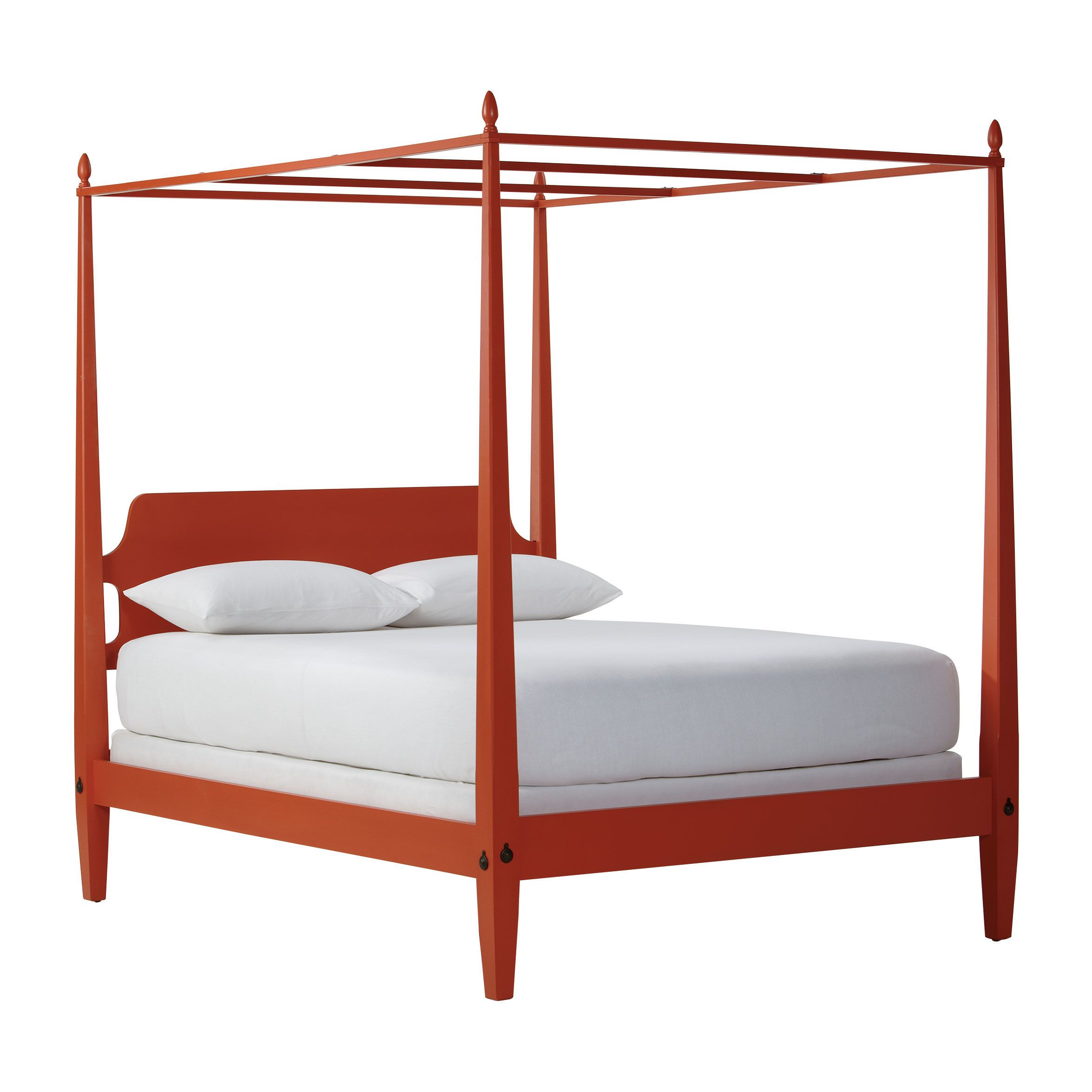 Barrett canopy bed tangerine collection new country by ethan