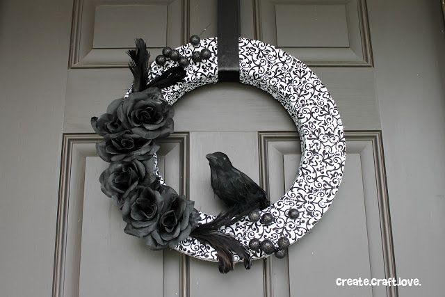Nevermore Wreath Wreaths and Crafts - not so scary halloween decorations