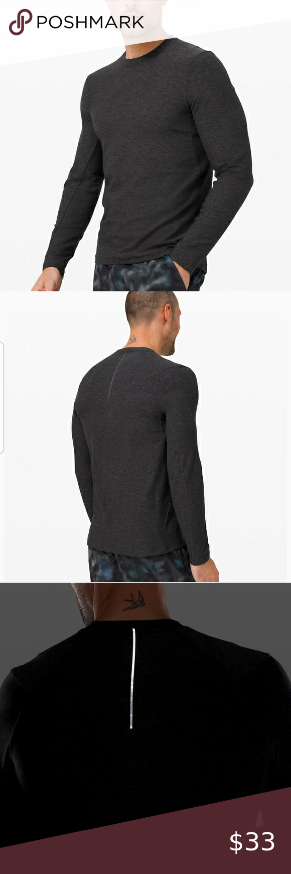 Mens Lululemon Dark Gray Crewneck Sweatshirt Crew Neck Sweatshirt Clothes Design Sweatshirts [ 1740 x 580 Pixel ]