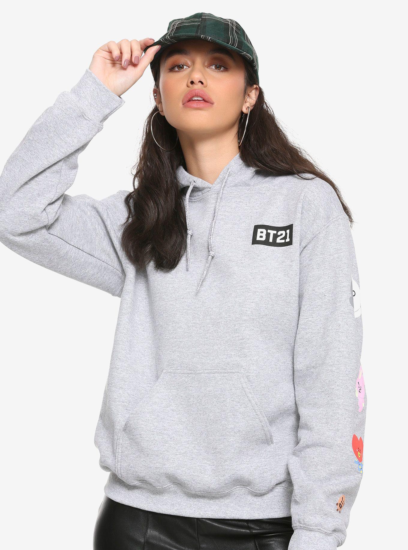 Bt21 logo girls hoodie