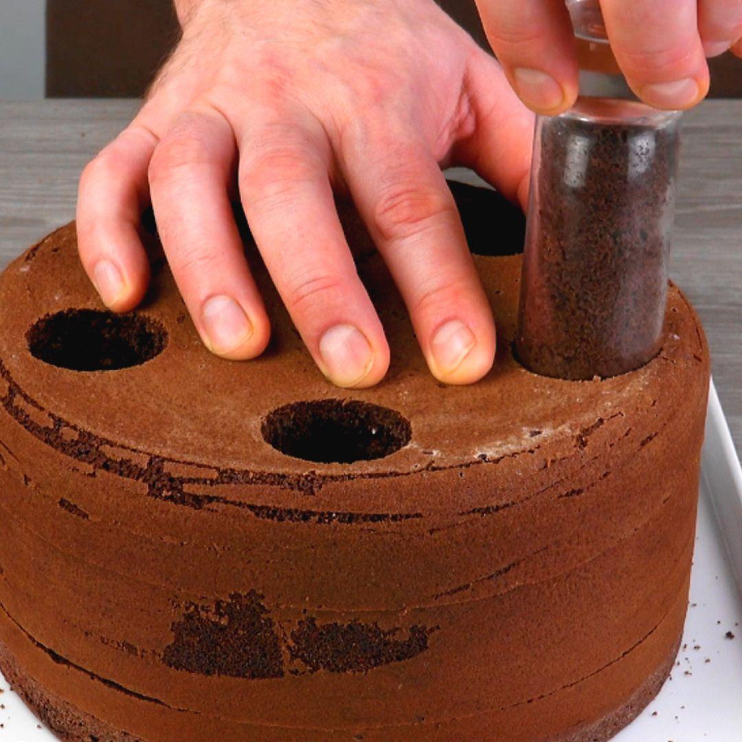 Toller Hingucker: Schoko-Kuchen mit Spezial-Optik