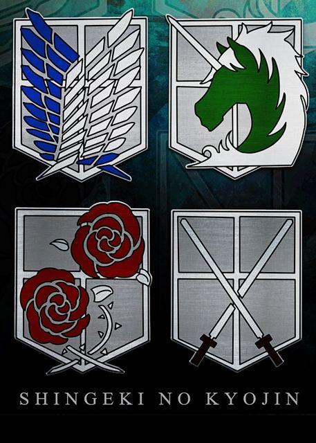 shingeki no kyojin emblems