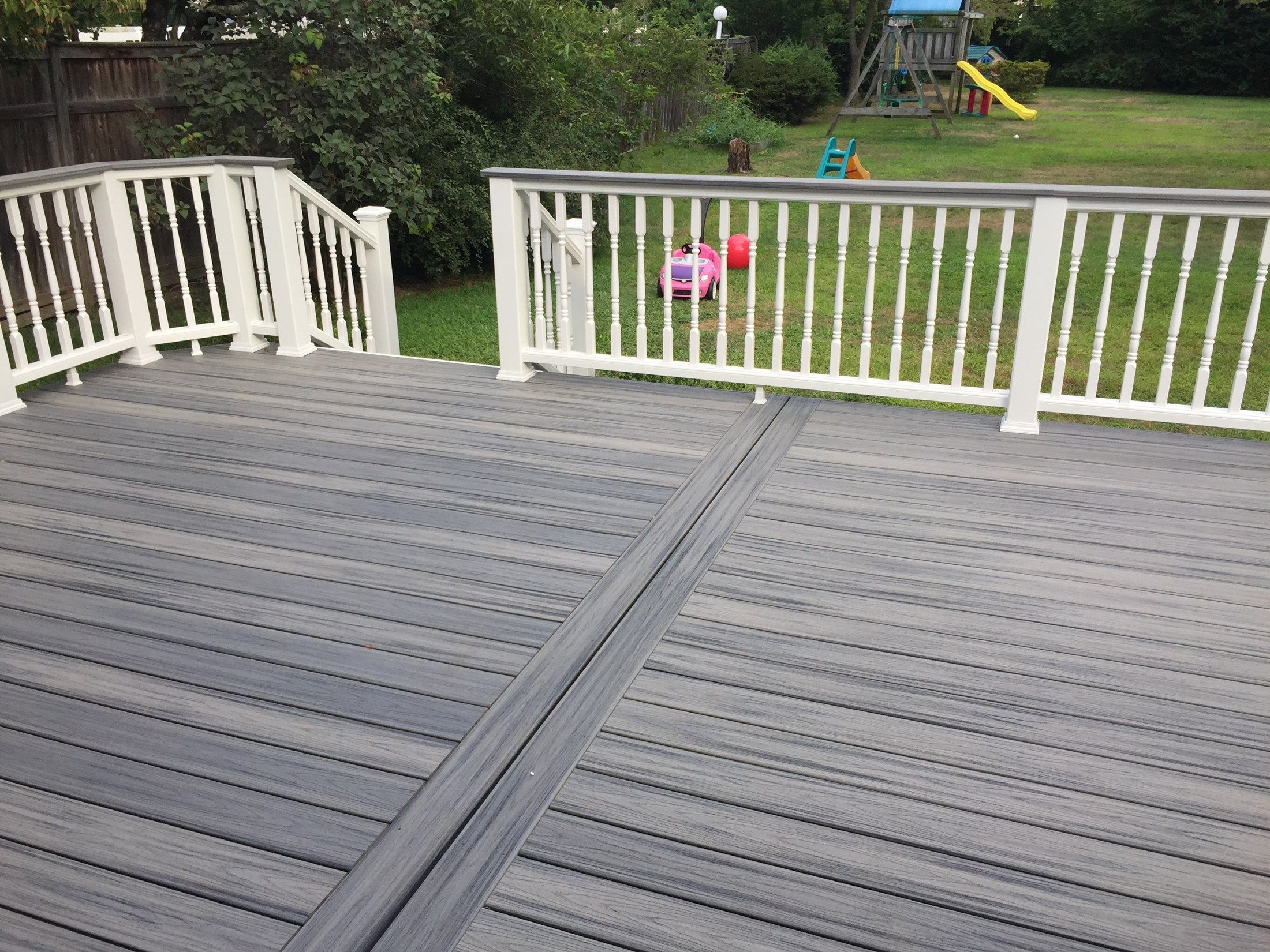 We Like The Look Where The Boards Are Lined Up And Divided In Even Sections With A Frame Like Seen Here In 2020 Patio Deck Designs Deck Designs Backyard Deck Design