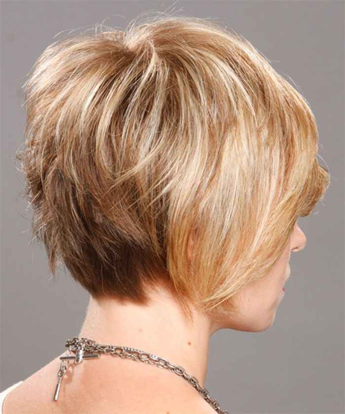 Short Stacked Layered Hairstyles Hair Pinterest