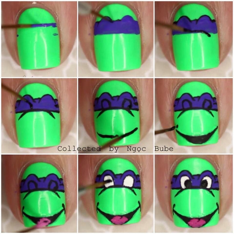 Ninja turtle | Nails | Pinterest | Ninja turtles, Turtle and Nail nail