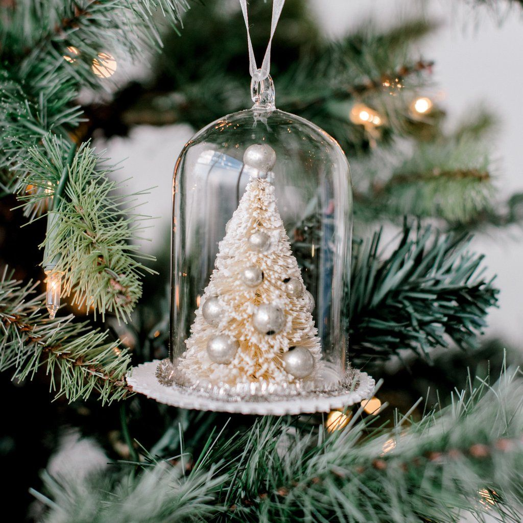 459f417c669904 White Christmas Tree Cloche Ornament | Christmas | Magnolia Market | Chip &  Joanna Gaines | Waco, TX