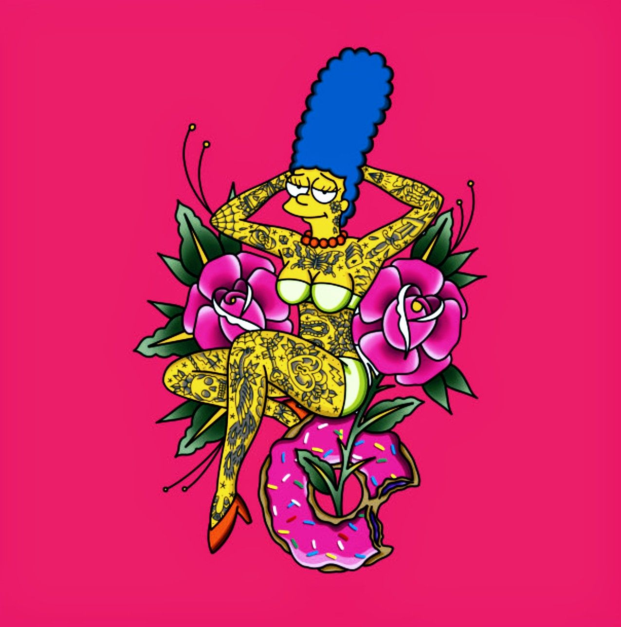Inked Marge, The Simpsons | Simpsons tattoo