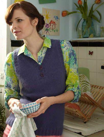 veronik avery sweater vest knitting pattern