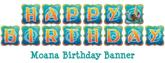 moana birthday banner Disney Moana Birthday Banner with 8 different character banner  moana birthday banner