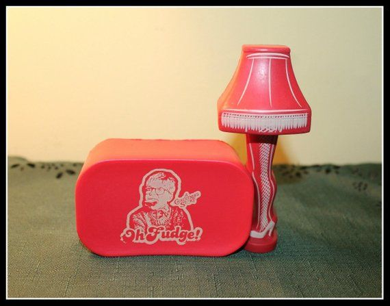 A Christmas Story Red Soap and Lamp Stress Bells or Squishies, A