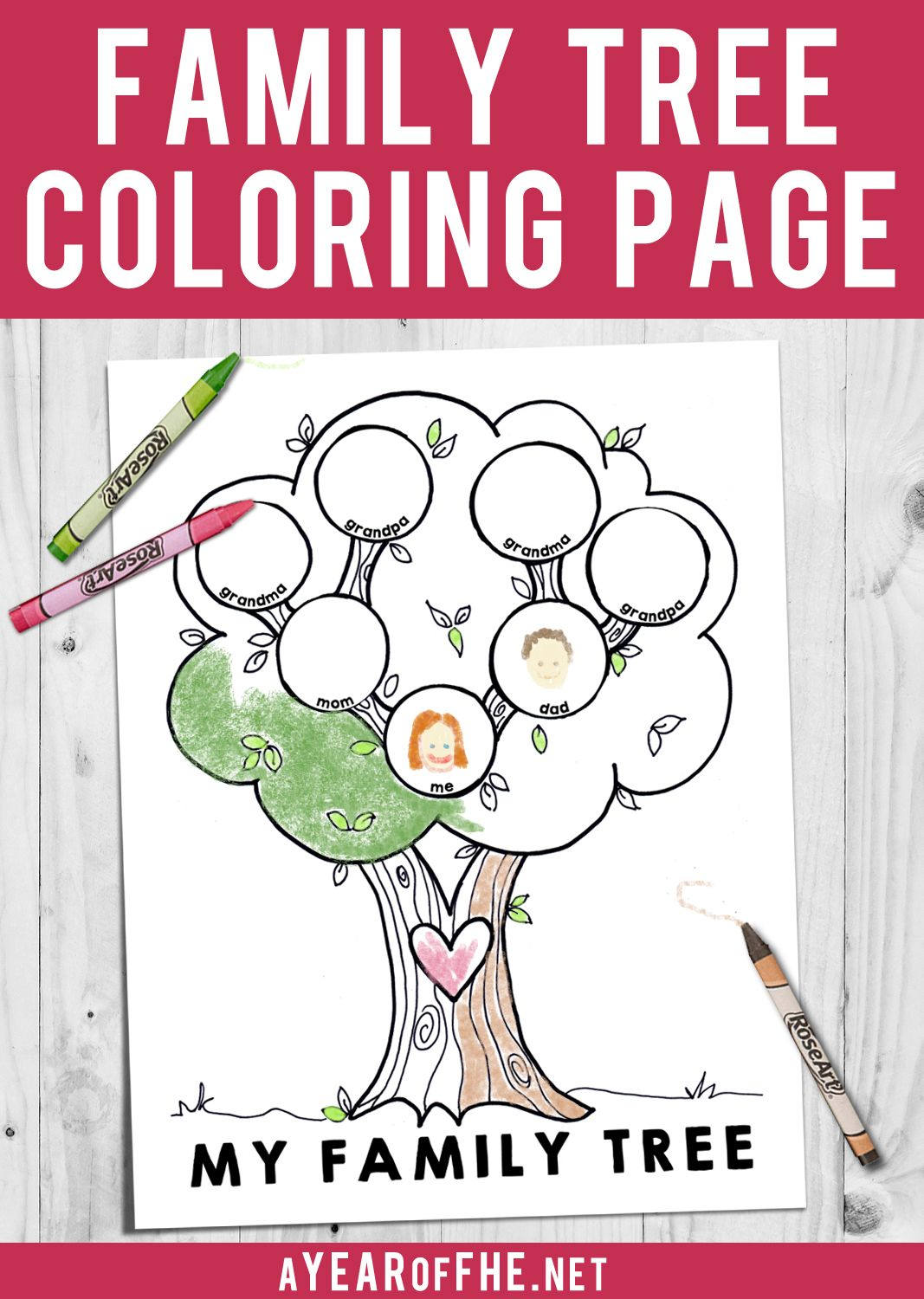Lds Coloring Page My Family Tree