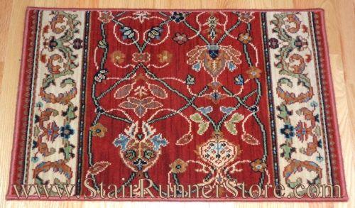 Best Karastan English Manor William Morris Red Stair Runner 640 x 480